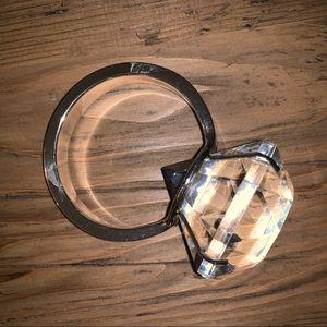 Supersized Diamond Ring Paperweight Napkin Holder
